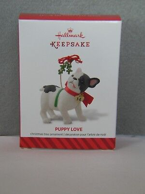 PUPPY LOVE - FRENCH BULL DOG - #24 IN THE SERIES - HALLMARK ORNAMENT - 2014