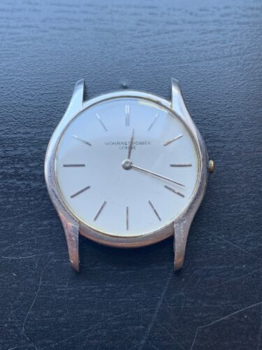 Super RARe VACHERON CONSTANTIN Vintage 1950's Ultra Thin PLATINUM Watch 4962 - watch picture 1