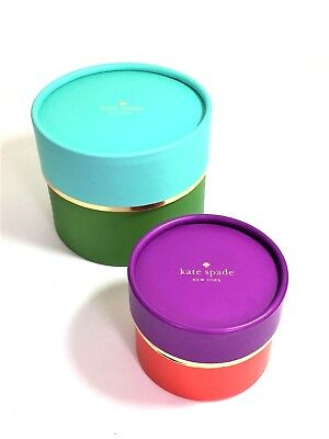 Two Kate Spade Hat Boxes NEW Perfect for Necklaces Bracelets Ring w/o Ribbon