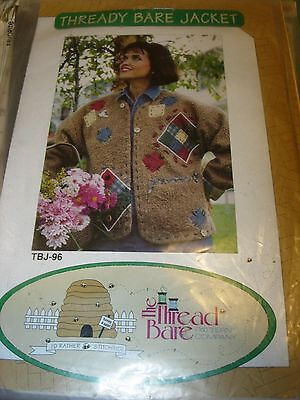 WOMENS JACKET PATTERN THREADY BARE BEAR PATCHWORK CLOTHING SEWING SIZE S M L - Patchwork Clothing Patterns