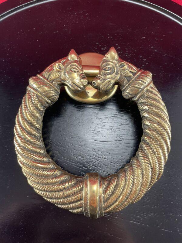 Vintage Celtic Torc Solid Brass Door Knocker New Old Stock Celtic Brassware