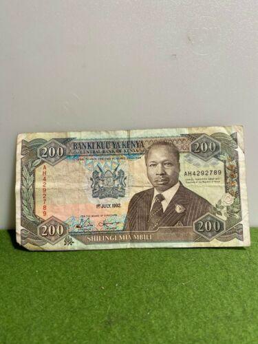 Kenya 200 Shilingi Banknote 1992 F/VF