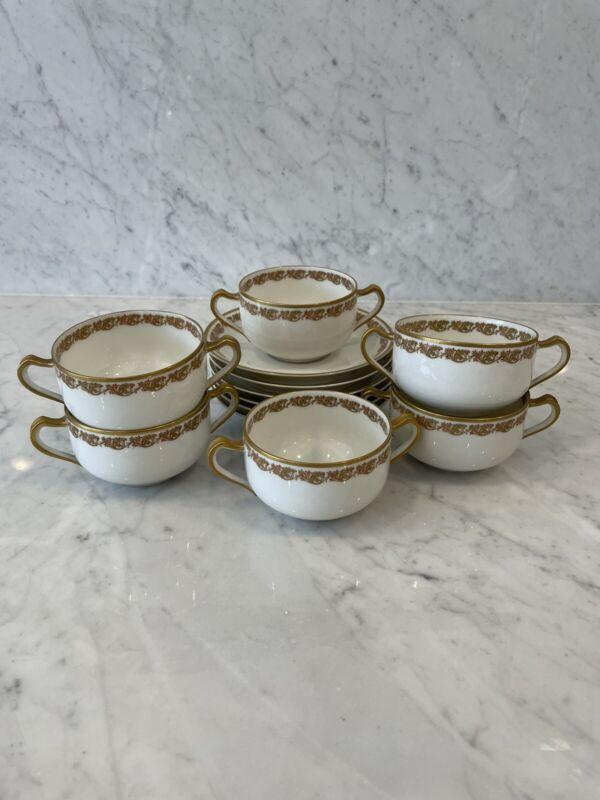 Haviland Limoges France Soup Bowls and Saucers