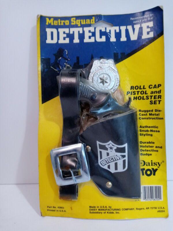RARE VTG DAISY ROLL CAP METRO SQUAD DETECTIVE TOY PISTOL/HOLSTER PLAYSET NIP