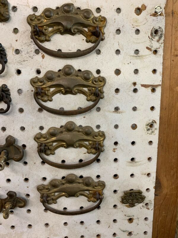 antique vintage brass drawer pulls/handles