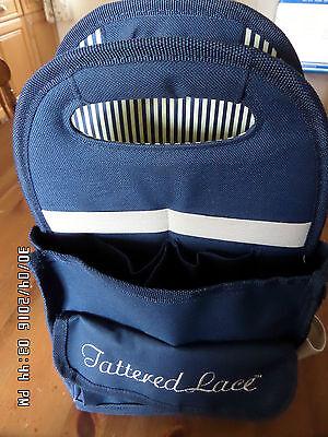 Tattered Lace Signature Blue Medium Craft Hobby Organiser Tote Storage Bag.BNIP.