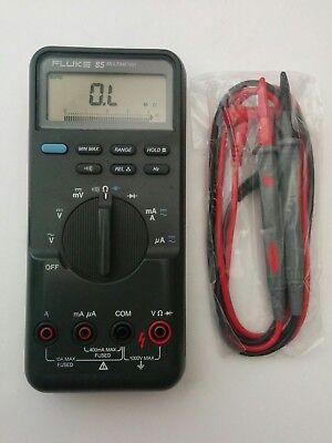 Fluke 85 Digital Handheld Multimeter New Test Lead Probes - Nice