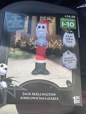 2020 Nightmare Before Christmas Jack Skellington Christmas Airblown Inflatable