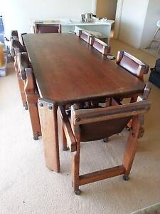 Post and Rail Timber Dining Table and 8 chairs Seaforth Manly Area Preview