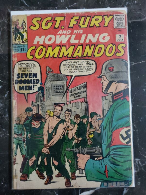 Sgt. Fury and His Howling Commandos #2 (1964) Stan Lee - Jack Kirby - Marvel