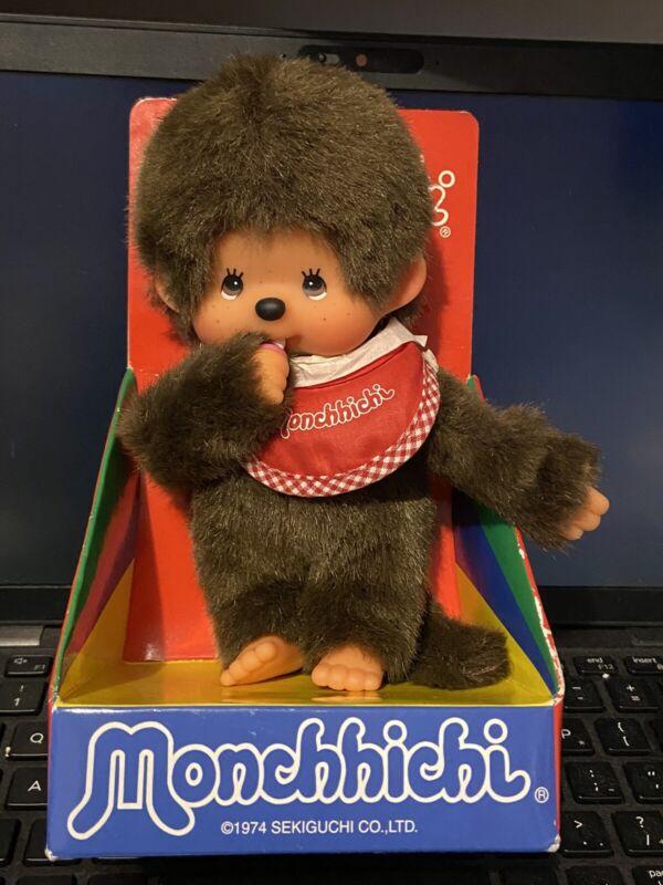 1974 Sekiguchi Monchhichi Boy Monkey with Pacifier in Original Box RARE Cute