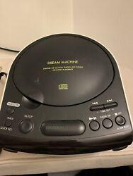 Sony ICF-CD814 Dream Machine Stereo CD Clock AM FM Radio Dual Alarm Aud In Jack