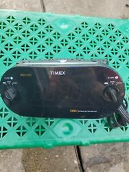 Timex T715 XBBU Redi-Set Dual Alarm Digital Clock Radio AM/FM Large Amber Digits