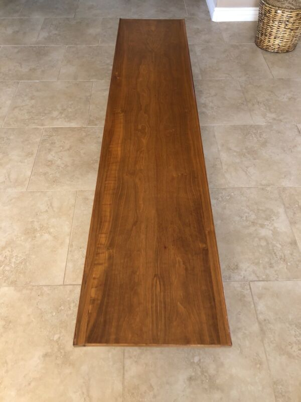 Drexel 1960's Walnut Mid Century Modern MCM Coffee Table Bench-Local Pickup Only