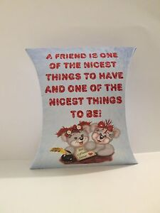 Best friends lover personalized holiday gift pillow box for Best personalized christmas cards
