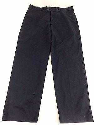 NWD JOHN W NORDSTROM MENS NAVY BLUE COTTON STRAIGHT LEG DRESS PANTS SIZE 36X30