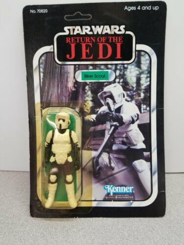 1983 BIKER SCOUT Figure Star Wars Return Of Jedi Kenner 70820 Sealed Damaged Box
