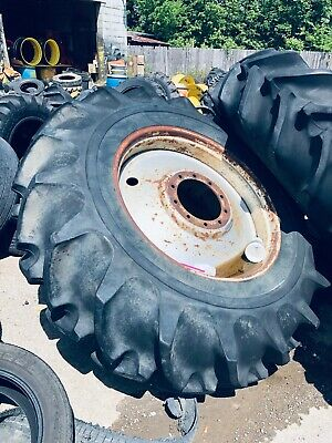 2 Used 20.8x38 Goodyear R-1 Ag Tires With Wheels