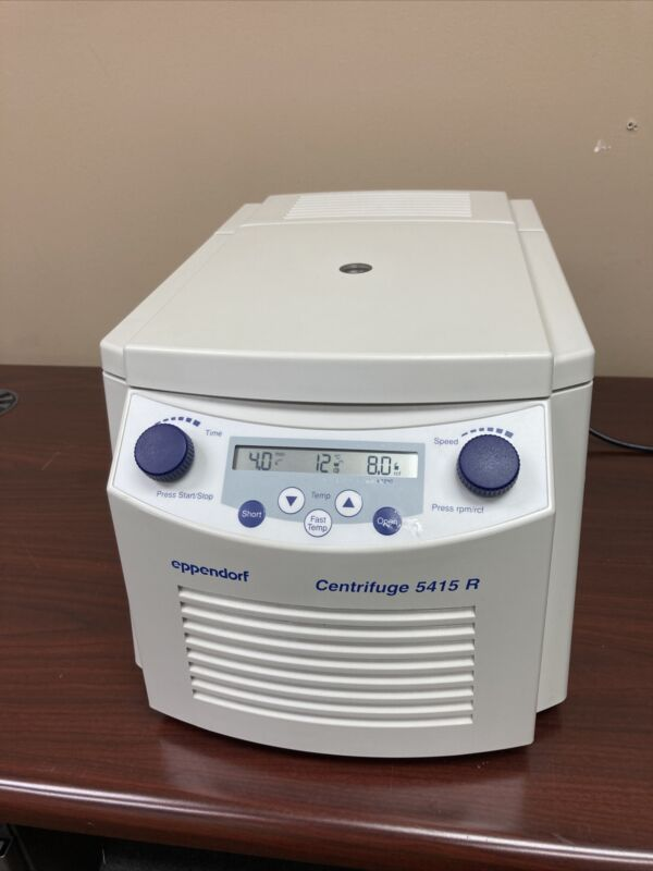 Eppendorf 5415R Refrigerated Centrifuge w/ Rotor & Brand New Lid