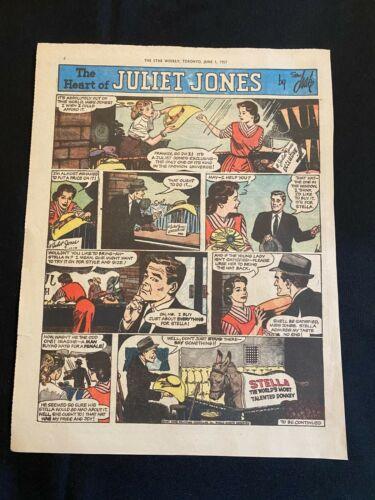 #50  HEART OF JULIET JONES By Stan Drake Sunday Tabloid Full Page Strips 1957