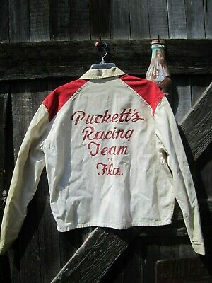 Vintage 50's-60's Pucketts Racing Team JACKET Harley Davidson-CAR CLUB-Champion