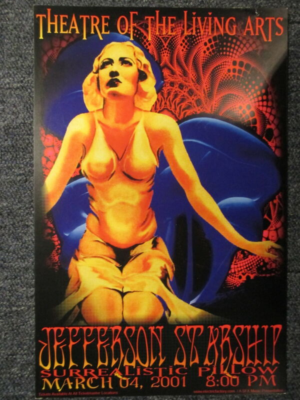 Jefferson Starship Concert Poster 11 X 17 Philadelphia March 4, 2001 ORIGINAL!