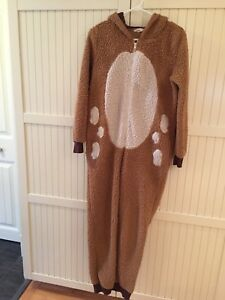 Onesie ladies size small- Reindeer