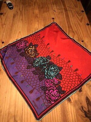 Paola Gucci Silk Scarf Vintage Red/Purple