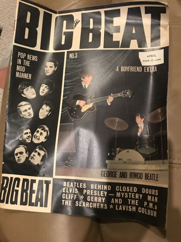 "The Beatles Original ""Big Beat"" Magazine"