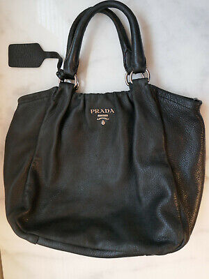 Vintage Prada Large Leather Bag