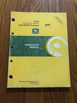 John Deere 21552355n Oml61595 Operators Manual