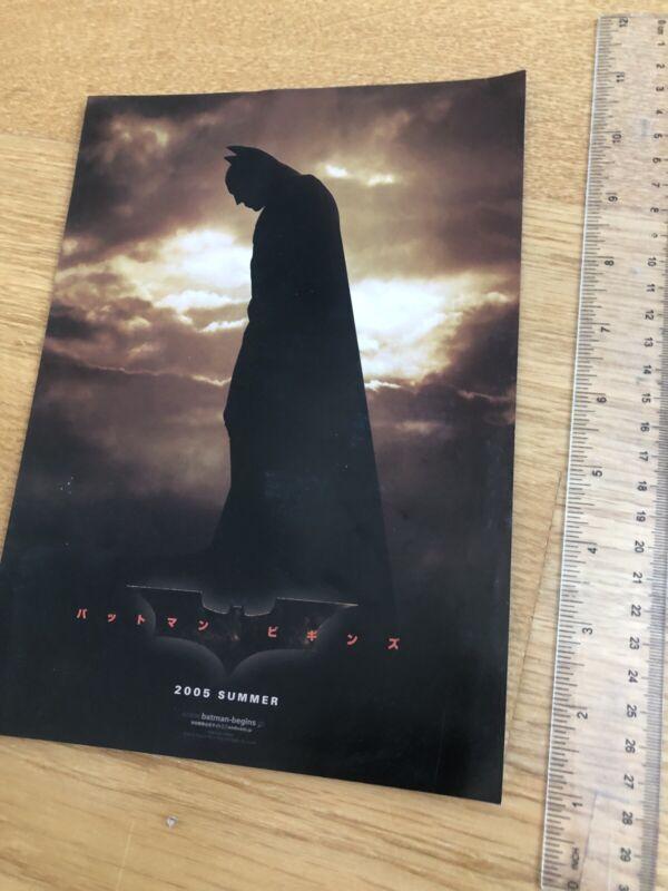 BATMAN BEGINS Film Movie Flyer POSTER Rare Japanese Chirashi Christopher NOLAN