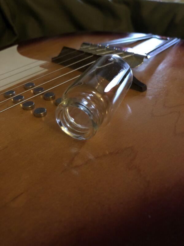 JSA B2O3 Borosilicate Glass Medicine Bottle Guitar Slide(US Ring Size - 5)