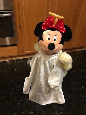 "Angel Minnie Mouse Christmas Tree Topper 13"" Plush Walt Disney Company Mickey"