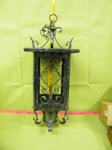 Vintage Iron Sconce Hanging Or Post