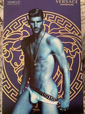 NWT Versace Men's Brief Size 3 Grey Gray Mens Underwear New Small