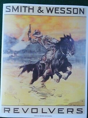 Smith & Wesson Revolvers Advertising Poster, Dan Smith Artist.