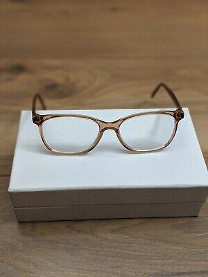 ANDY WOLF-Handmade Austria-5080 50-14-185 orange brown Eyeglasses Frames