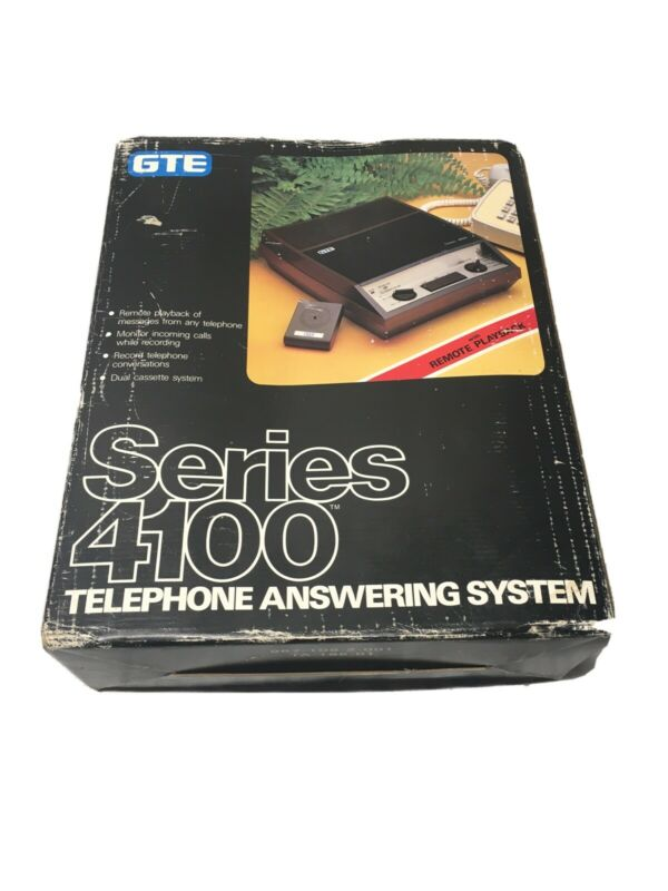 Vintage GTE Telephone Answering System 4100 Series