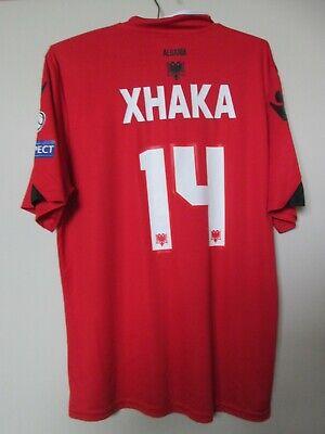 Rare football shirt Albania #14 TAULANT XHAKA Home 2016 - 2017 size: M  image