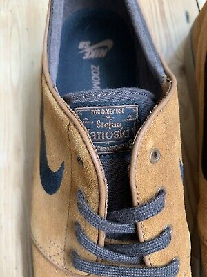 Nike SB Stefan Janoski Zoom Air Skateboard Shoes / Trainers In Tan Size 11