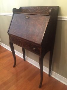 Antique Secretary Desk - Mission Style- Oak w/ Drawer