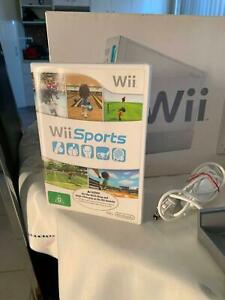 Wii with accessories and Wii Sports.