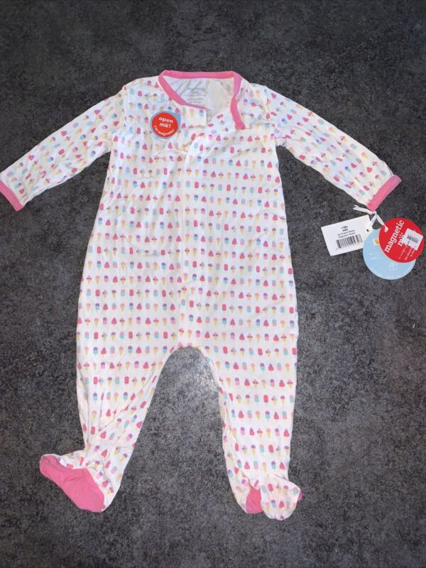 Magnetic Me Sleeper Footed Pajamas 6-9 Month NEW Ice Cream Sweets Treat 16-19lbs