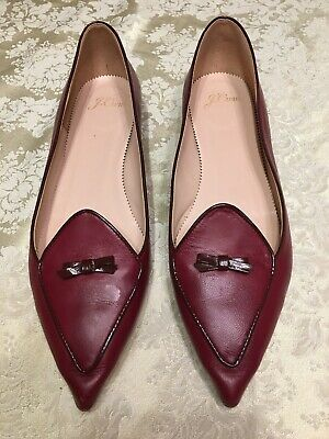 JCrew Two-Tone Pointed-Toe Loafers Sz 10 Red H5521 (Pointed Tone)