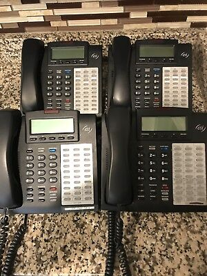 Lot Of 4 Esi Communications - Phone System 48 Key H Dfp With Receivers Stands