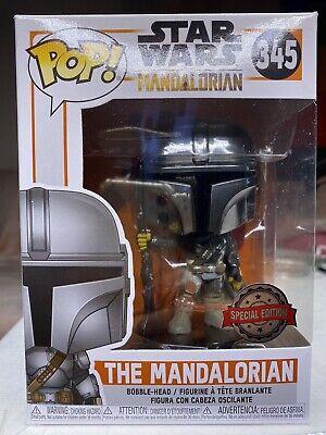 Funko Pop Star Wars - The Mandalorian #345 SE 1st Edition Full Chrome - RARE