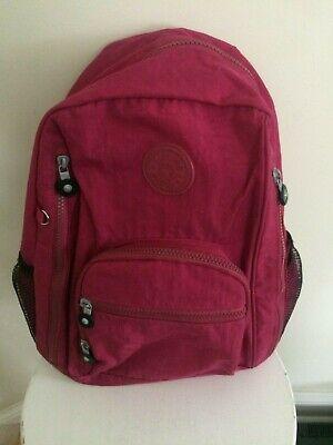 Kipling back pack bag Dark pink light weight smaller