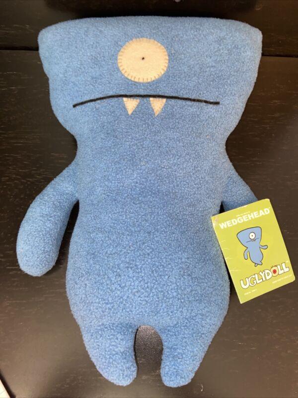 "UGLY DOLL ""WEDGEHEAD"" 2003/2004 *NWT* Classic Ugly Doll Plush Stuffed Animal 13"""