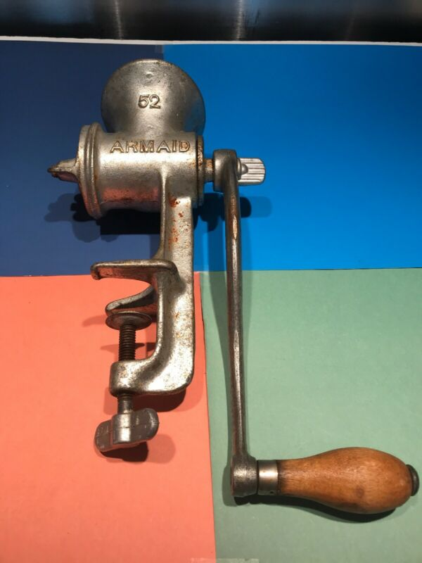 Antique & Vintage Armaid 52 Kitchen Meat Grinder